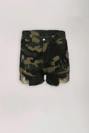 LA SISTERS CAMOUFLAGE SHORTS