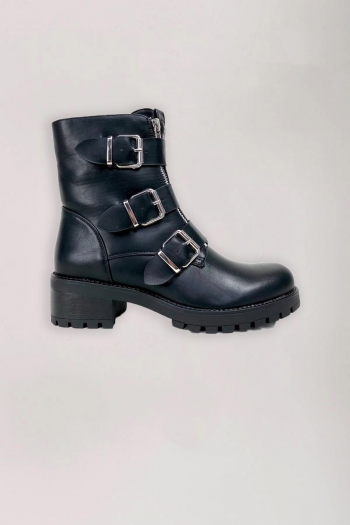 DOUBLE ZIP BIKER BOOT