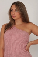 2ONE SHOULDER TOP PINK