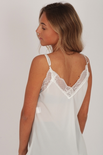 BASIC LACE TOP WHITE