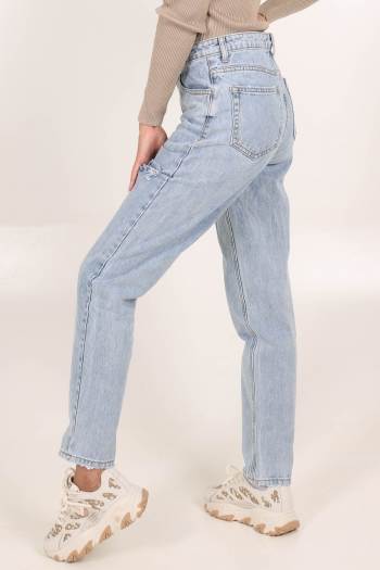 REDIAL JEANS RIPPED MOM FIT RD1539