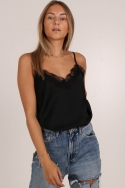 2LUCY BASIC LACE TOP BLACK