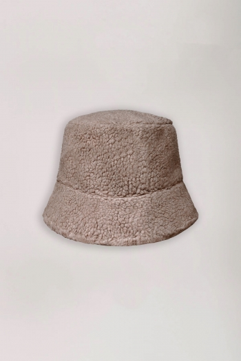 BUCKET HAT TEDDY TAUPE