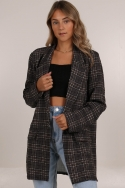 2CHECKED OUT BLAZER BROWN