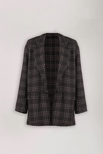 CHECKED OUT BLAZER BROWN
