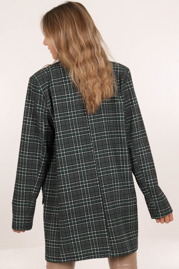 CHECKED OUT BLAZER GREEN