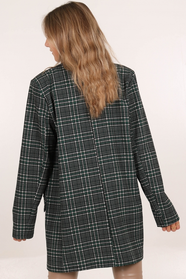 2CHECKED OUT BLAZER GREEN
