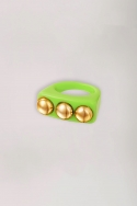 2Candy Ring Three Studs green
