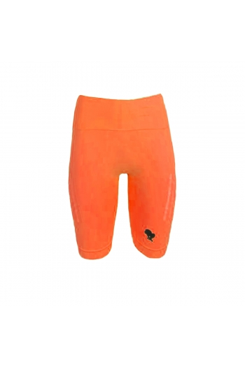 SPORT LEGGING SHORT DESTROYED REINDERS NEON ORANGE