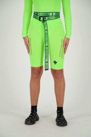 SPORT LEGGING SHORT DESTROYED REINDERS NEON GREEN
