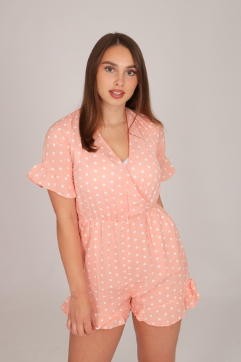 DOTTED PLAYSUIT SOFTPINK