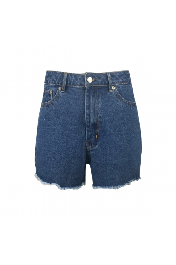 NA-KD SHORT DENIM SHORTS MID BLUE