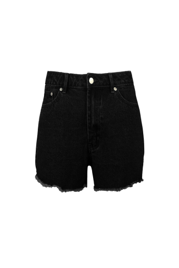 NA-KD SHORT DENIM SHORTS BLACK