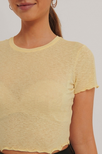 NA-KD BABYLOCK CROP TOP YELLOW