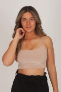 2STRAPPY CROP TOP BEIGE